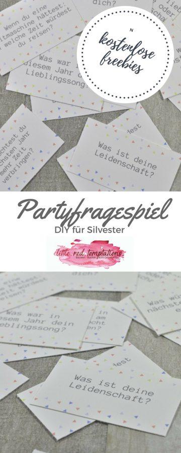 Für viel Spaß auf eurer Party sorgt dieses Partyfragespiel: ob Silvesterparty oder Geburtstagsfeier - mit den kostenlosen Fragekärtchen sorgt ihr für Gesprächsstoff und bringt eure Gäste zum Diskutieren. Einfache und schnelle DIY-Partyidee