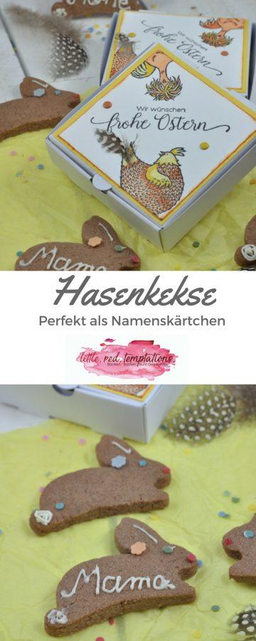 Diese Hasenkekse sind nicht nur schokoladig und versammt niedlich, sie sind auch perfekt dafür geeignet als Namenskärtchen an der Ostertafel genutzt zu werden. Das Rezept gibt es auf dem Blog!